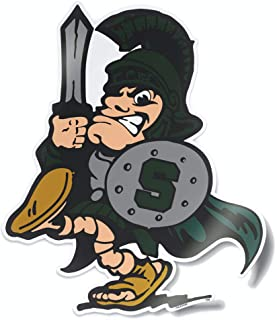 Nudge Printing Michigan State Spartans MSU Vintage Sword Sparty Logo from The College Vault Car Window Decal Bumper Sticker Laptop Sticker