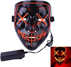 Halloween Mask LED Light-Up Mask - Scary Mask for Festival Cosplay Halloween Costume Party Carnival