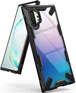 جراب Ringke FusionX مصمم لهاتف Galaxy Note 10 Plus، جراب Galaxy Note 10 Plus 5G (2019) - أسود