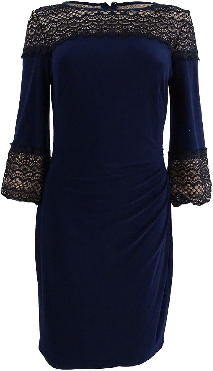 Lauren by Ralph Lauren Women's Lace-Inset Jersey Dress
