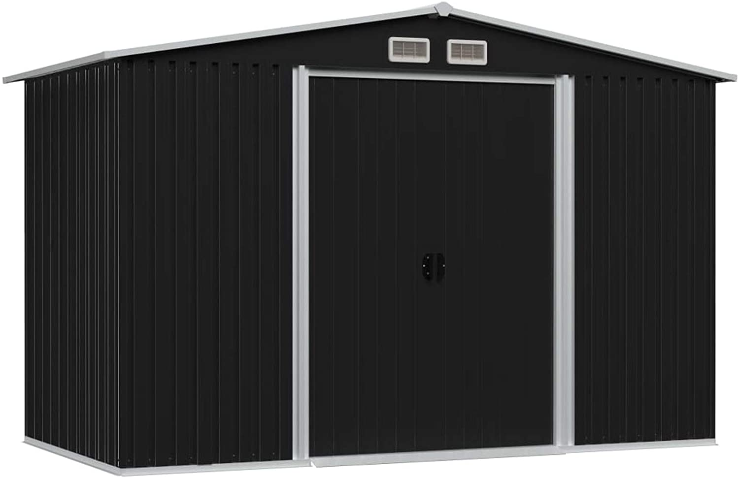 Festnight Garden Storage Shed with 4 Double Sl Vents Metal National List price uniform free shipping Steel