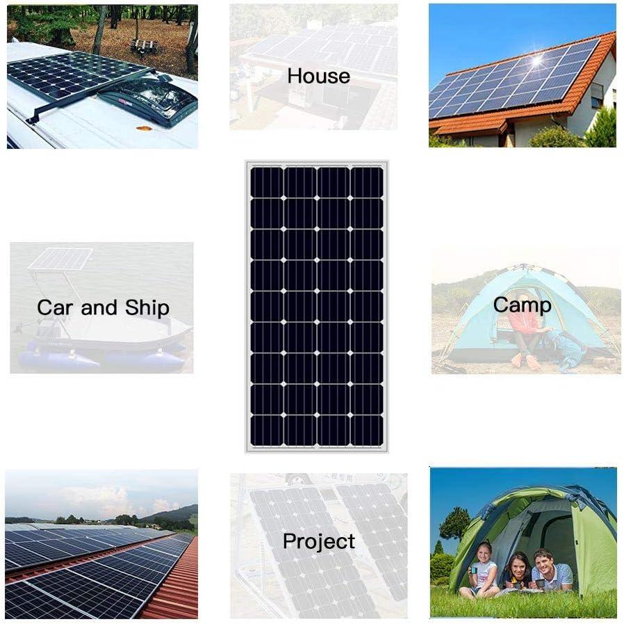 AUECOOR 240 Watt 12V Monocrystalline Solar Panel Module Kit 2 x 120w Mono Solar Panel+20A LCD Display Solar Controller for Home,RV,Caravan,Boat and 12V//24V Battery