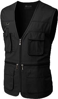 Men's Active Wear Outdoor Vests Work Safari Fishing Travel Utility Summer Vest
