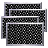 Optional Microwave Recirculating Charcoal Filter JX81J WB02X11124 Microwave Charcoal Filter Kit for GE JX81J B02X11124, WB06X10823(4-Pack)