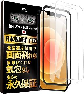 Less is More iPhone12 mini ガラスフィルム 全面保護フィルム 日本製旭硝子 強化ガラス【ガイド枠付き】 【2枚入】 TM-9009