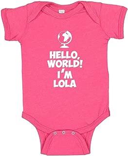 Hello, World! I'm Lola - Personalized Name Baby Bodysuit