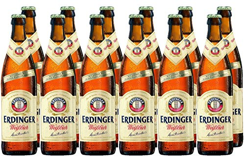 Erdinger Weissbier - Cerveza  botella de 50 cl, pack con 12 unidades