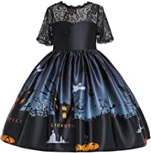 Halloween Costumes Dress for Girls Kids,Lace Princess Pageant Gown Halloween Cosplay Dress, Halloween Decor Kids Gift Party Decorations Costume Clothes