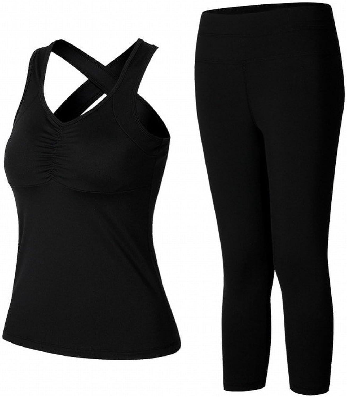 YJFF Yoga Kleidung Hohlen Weste Anzug Sport Lauf Gym Schnell Trocken Elastische Strumpfhosen Weiblich SEDD