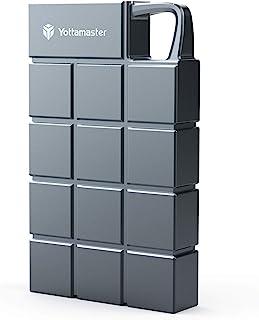 Yottamaster ポータブルSSD 250GB 最大950MB/s USB3.1(Gen2) 10Gbps 外付けSSD 防滴 耐振 耐衝撃 PC/Mac/PS4対応 アルミニウム グレー 3年保証[HCES3-256G-GY]