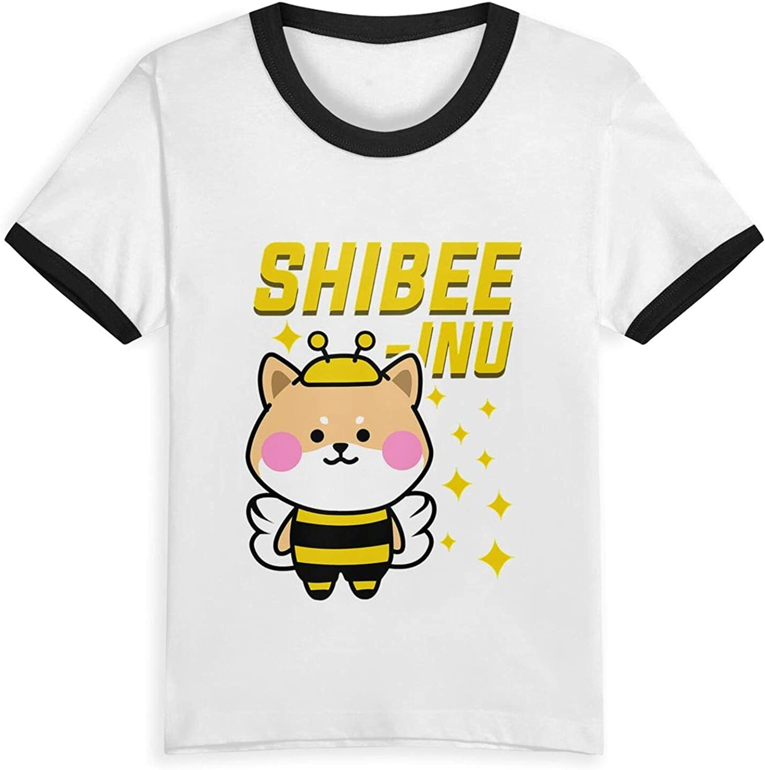 Shiba Inu Dog Bee Beehive Stingless T-Shirts Novelty for Girls Tees with Cool Designs