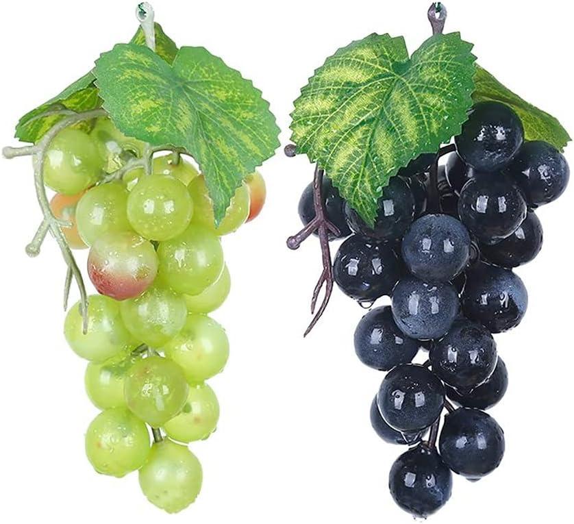 AEBDF 2pcs New Free Shipping Artificial Fruit Grapes Ranking TOP4 Leaves Fake Plastic Christmas