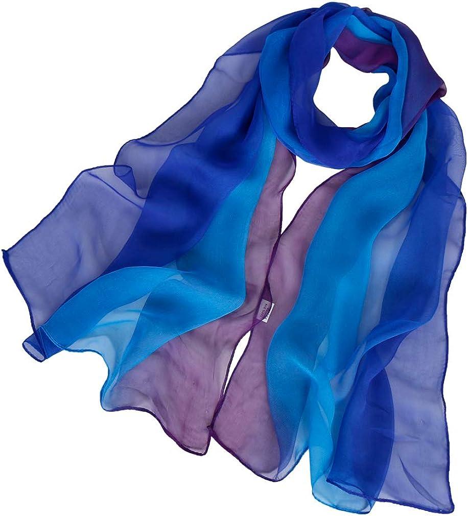 KAVINGKALY Foulard en mousseline de soie fleur foulards pour femmes Printe foulard en mousseline de soie /à pois ch/âles Long /écharpe Wrap