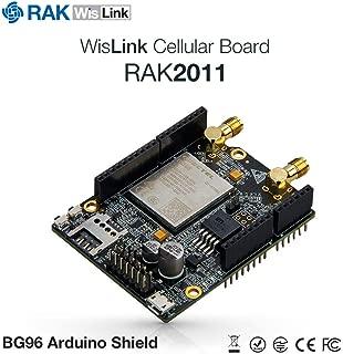 RAKWireless WisLink Cellular BG96 Shield simultaneously Supporting 3 cellualr Standards: 2G/EGPRS, 4G/LTE Cat-M1(eMTC), Cat-NB1(NB-IoT)