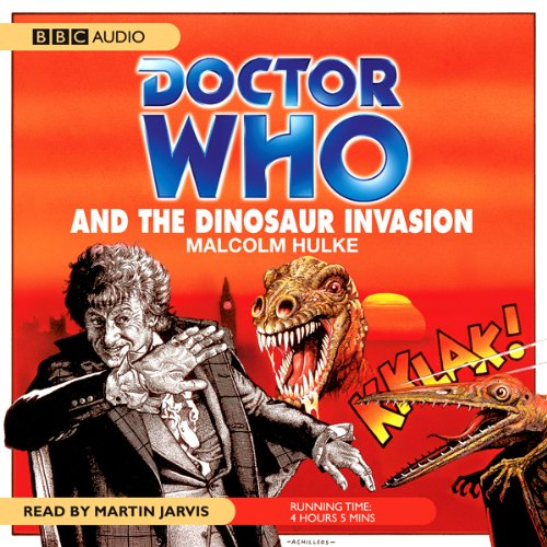 Doctor Who and the Dinosaur Invasion audiobook cover art