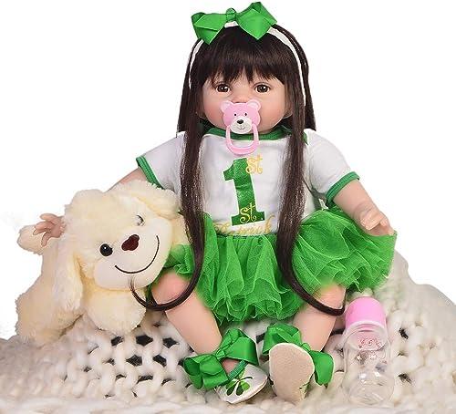 DMZH 5cm Größer Elf Reborn Babypuppen Realistische mädchen Neugeborenes Baby Puppe Simulation Lebensechte Weiß puppe Kinder Spielzeug Geburtstag Weißachten Geschenke