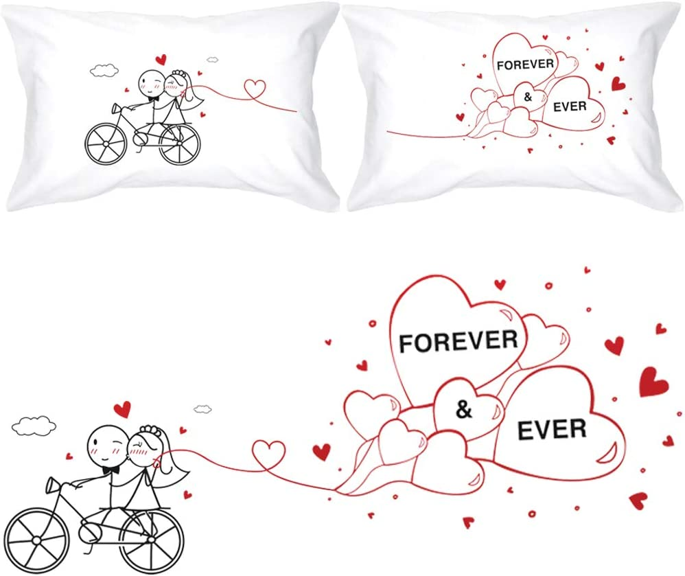 BOLDLOFT Bargain Forever Ever Couples Pillowcases Max 58% OFF Bride Groom- for and
