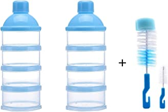 Bo/îte de poudre de lait Amaoma Compl/ément alimentaire pour Bo/îte /à bonbons pour enfants 3 couches essentiel de voyage Sans BPA Portionneuse portative de poudre de lait de grande capacit/é