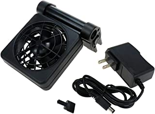 "Karcy Aquarium Cooler Chiller Aquarium Cooling Fan 1fan Water Chiller Fit for Aquarium Thickness Less Than 1/2"" Black Alum..."