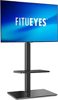FITUEYES Floor TV Stand Swivel TV Bracket Mount for 32-60 Inch LED LCD Plasma Flat Curved Screen, with Cable Management TT...