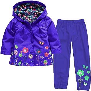 7c12d7914 Aiweijia Niña niño Chaqueta Impermeable niña 2-8 años Chaqueta con Capucha Chaqueta  Dinosaurio Escudo