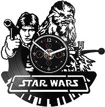 Clock Luke Skywalker Chewie Chewbacca Star Wars Vinyl Wall Vinyl Record Wall Gift Star Wars Star Wars Star Wars Record Star Wars Gift for Man Vinyl Wall