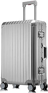 "Aluminum Luggage, 25"" Hardside Luggage Suitcase With TSA Spinner Wheels (25 inch, Silver)"