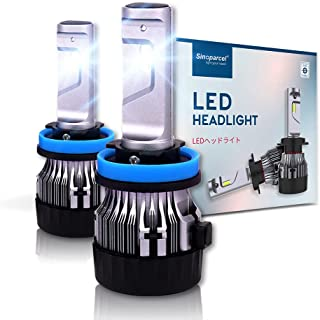 Sinoparcel H11/H8/H9 LED Headlight Bulbs -10000LM 2 Yrs WTY- Halogen Replacement Light Conversion Kits,Pack of 2