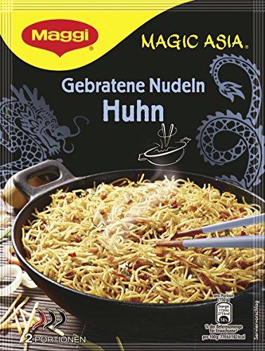 Maggi Asia gebratene Nudeln mit Huhn, 12er Pack (12 x 121 g Beutel)