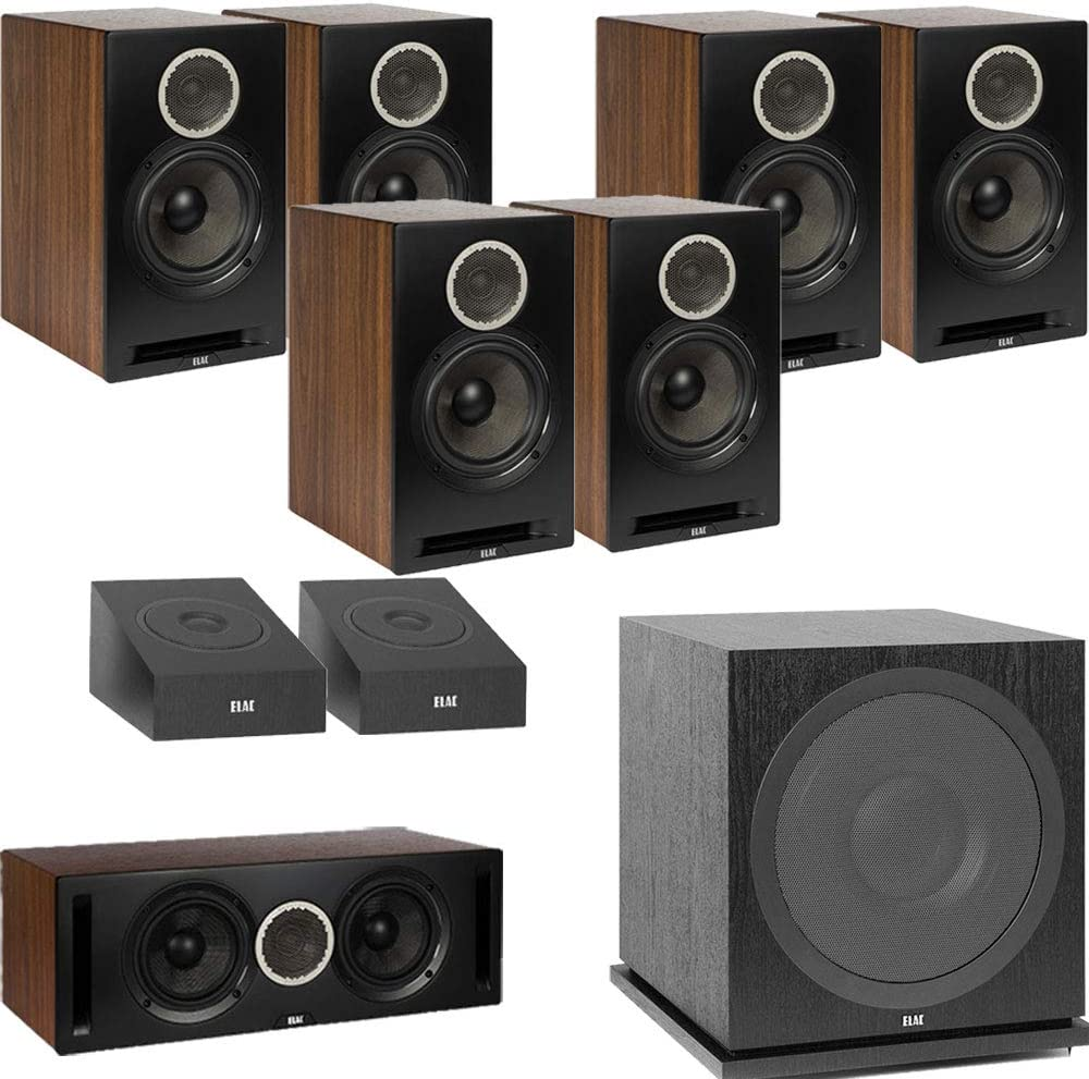 Amazon.com: ELAC Debut Reference DB62 9.1 Channel Bookshelf Dolby Atmos  Surround Sound Home Theater System with DA4.2 Atmos Speakers and Subwoofer  SUB3030 - Black/Walnut : Electronics