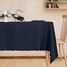 LUSHVIDA Rectangle Table Cloth – Washable Water Resistance Microfiber Tablecloth Decorative Table Cover for Banquet Party ...