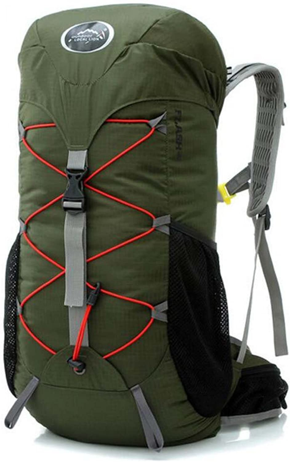 Mountain Bike Riding Backpack, Camping Equipment Supplies Sports Outdoor Waterproof Light Backpack Mountaineering Backpack,Militarygreen
