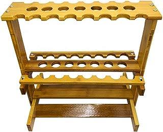 LCRACK Estante De Billar, 23 Hoyos Bambú Pie Suministros De Billar por Unisexo