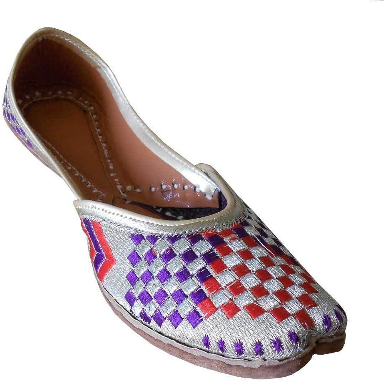 Kalra Creations Jutti Indian Handmade Leather Women shoes Mojari Flip-Flops