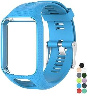 Scpink Accesorio Correa de reemplazo Suave Gel de Silicona Reloj Pulsera Pulsera Deportiva para Tomtom Runner 2 / Runner 3 / Spark 3 / Aventurero/Golfista 2 Deportes GPS funcionando Smartwatch