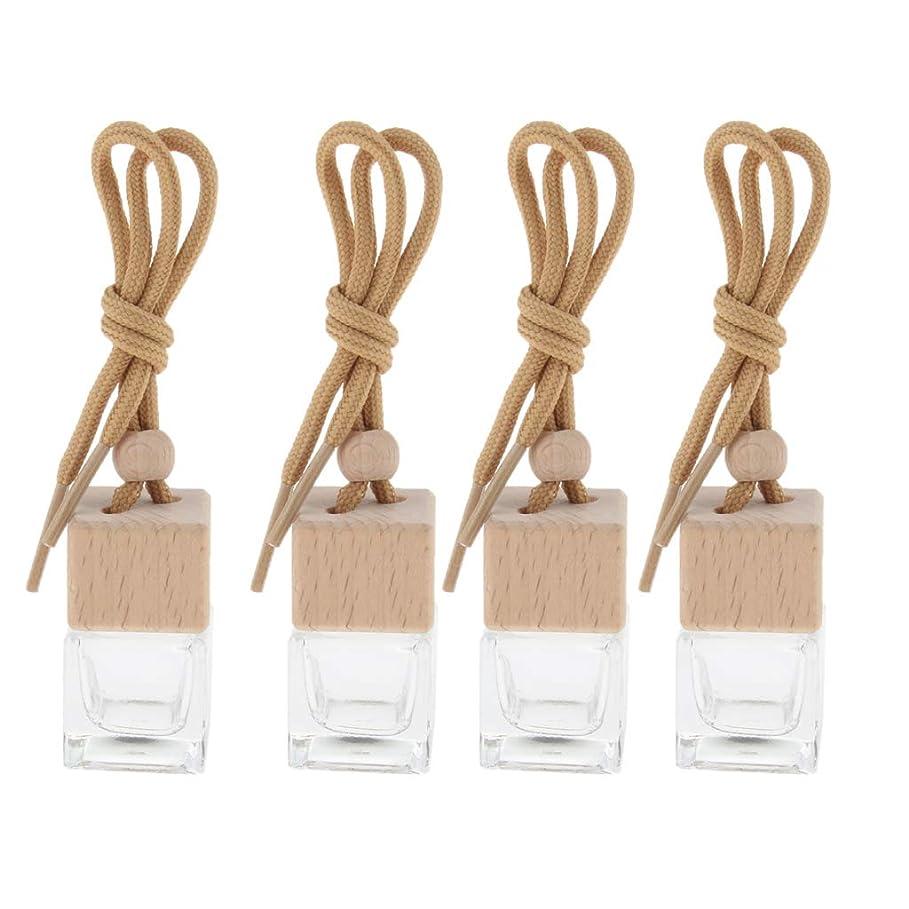 配置お気に入り修羅場4個 6ml 香水瓶 車ぶら下げ装飾 香水 エッセンシャルオイル バイアル ペンダント装飾