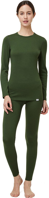 2021 new OFFicial store Naturwool Women's 100% Merino Wool Base U Thermal Set Layer John