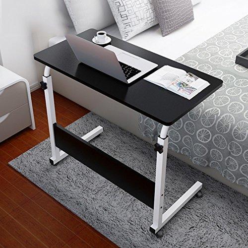 Table pliante YNN Table Chambre Chevet Bureau D'ordinateur MDF Noir Redwood Couleur Hauteur Réglable 80 * 40 cm 80 * 50 cm Paresseux Table Ménage Simple Bureau Amovible Petite Table