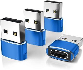 USB C Buchse auf USB Stecker Adapter(4 Stücke),Typ C auf USB A Ladekabel Adapter für iPhone 12 Mini Pro Max,Airpods iPad 2...