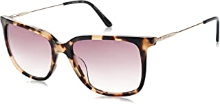 نظارات شمسية للنساء من كالفن كلاين، بني، 55 ملم CK19702S