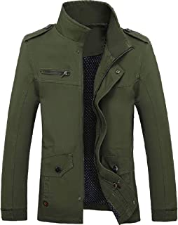 Howme-Men Multi-Pockets Open Work Insulated Trench Coat Jacket