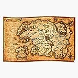 Oblivion Map Rpg Scrolls Elder Roleplaying Skyrim Fantasy Home Decor Wall Art Print Poster !