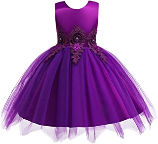 Baby Toddler Girls Wedding Pageant Dresses Birthday Party Dress