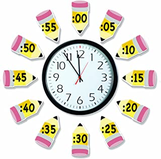 Eureka 'Telling Time' Bulletin Board Analog Clock Practice, 4pc, 17'' W x 24'' L