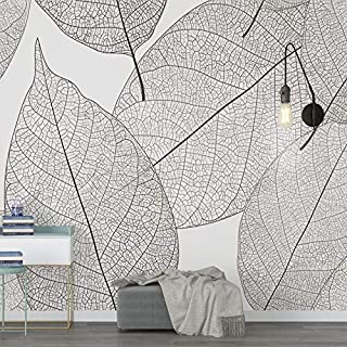 TIANXINBZ Custom Mural Wallpaper Modern Minimalist Leaf Veins Texture Wallpaper Living Room Bedroom Background Mural Wallp...