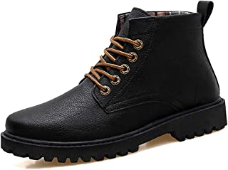 JIANFEI LIANG Men's Ankle Work Boot Casual Outsole Classic British Style High Top Boot Durable Shoes (Color : Khaki, Size : 40 EU)