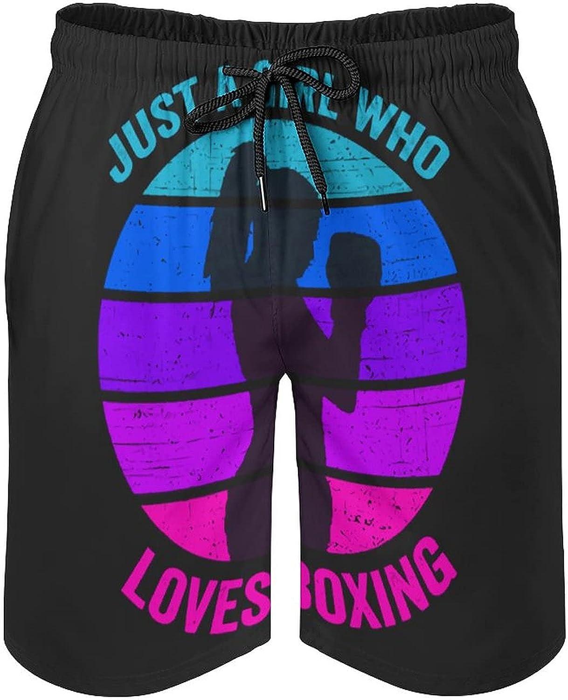 B&MAVIS Retro Boying Girl Men's Summer Quick Dry Swim Trunks Casual Board Shorts Beachwear for Boys Men