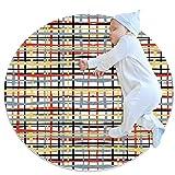 huhulala Alfombras redondas sala de estar dormitorio moderno estudio sofá área alfombras suave habitación niños alfombras decoración del hogar alfombras celosía geométrica