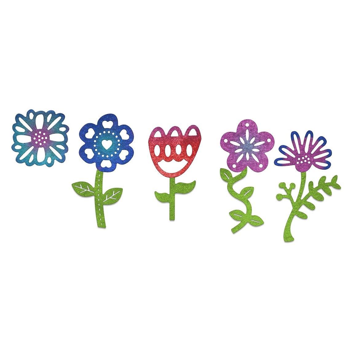 Cheery Lynn Designs B804 Whimsical Flower 9 Piece Die Set 2