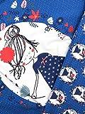 Panel Jersey Stoff Mädchen Blumen Saphir Kinderstoff
